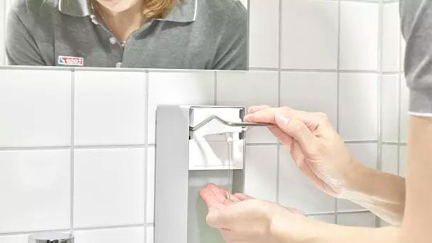 productos tesa higiene y limpieza. Montaje profesional de dispensadores de jabón